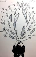 Inktober #12: Shattered by stylecheetah