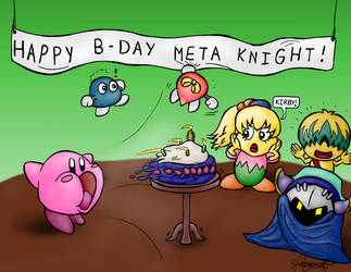 Happy B-Day Meta Knight! by TheGreatKitCat