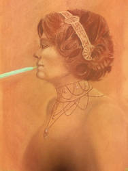 Victorian Pocky Self Portrait by Misachi-Chan