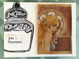 Inktober 1th Poisonous by Lineke-Lijn