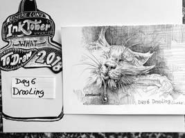 Day 6 Drooling ... cat by Lineke-Lijn