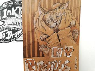 Day 9: Precious... cat! by Lineke-Lijn