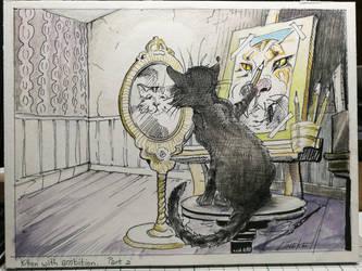 Kitten with ambition by Lineke-Lijn
