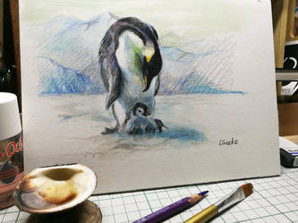 Hi Baby Penquin ^^ by Lineke-Lijn