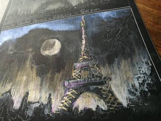 Paris by night study #1 by Lineke-Lijn