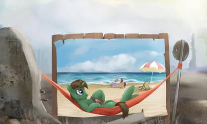 Green/Beach by hardbrony
