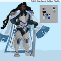 [VOLTRON OC] Soleil, Guardian of the Blue Paladin by Unexpectedchair
