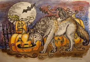 ::Scary Wolfy Halloween 2011:: by Veirilin