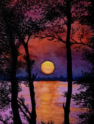 Twilight on the lake by MisaelRubio
