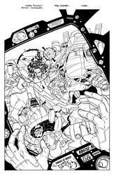 Bionic Commando Cover inks by DrewEdwardJohnson
