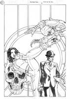 Steed and Mrs Peel Issue Two Cover Pencils by DrewEdwardJohnson