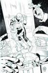 Guy Gardner and Ice Commission-Inked Version by DrewEdwardJohnson