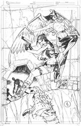 Lara Croft And Silver Age Hawkgirl Commission by DrewEdwardJohnson