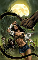 ZOMBIES: CURSED #3A Cover Colors by DrewEdwardJohnson