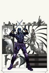 Snake Eyes: Agent of COBRA #1 Variant Cover Color by DrewEdwardJohnson