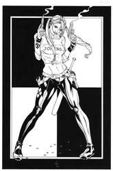 Harley Quinn Pin Up  by DrewEdwardJohnson