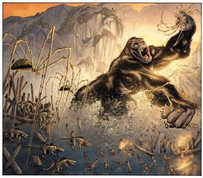 SKULL ISLAND: BIRTH OF KONG #4 Cover by DrewEdwardJohnson