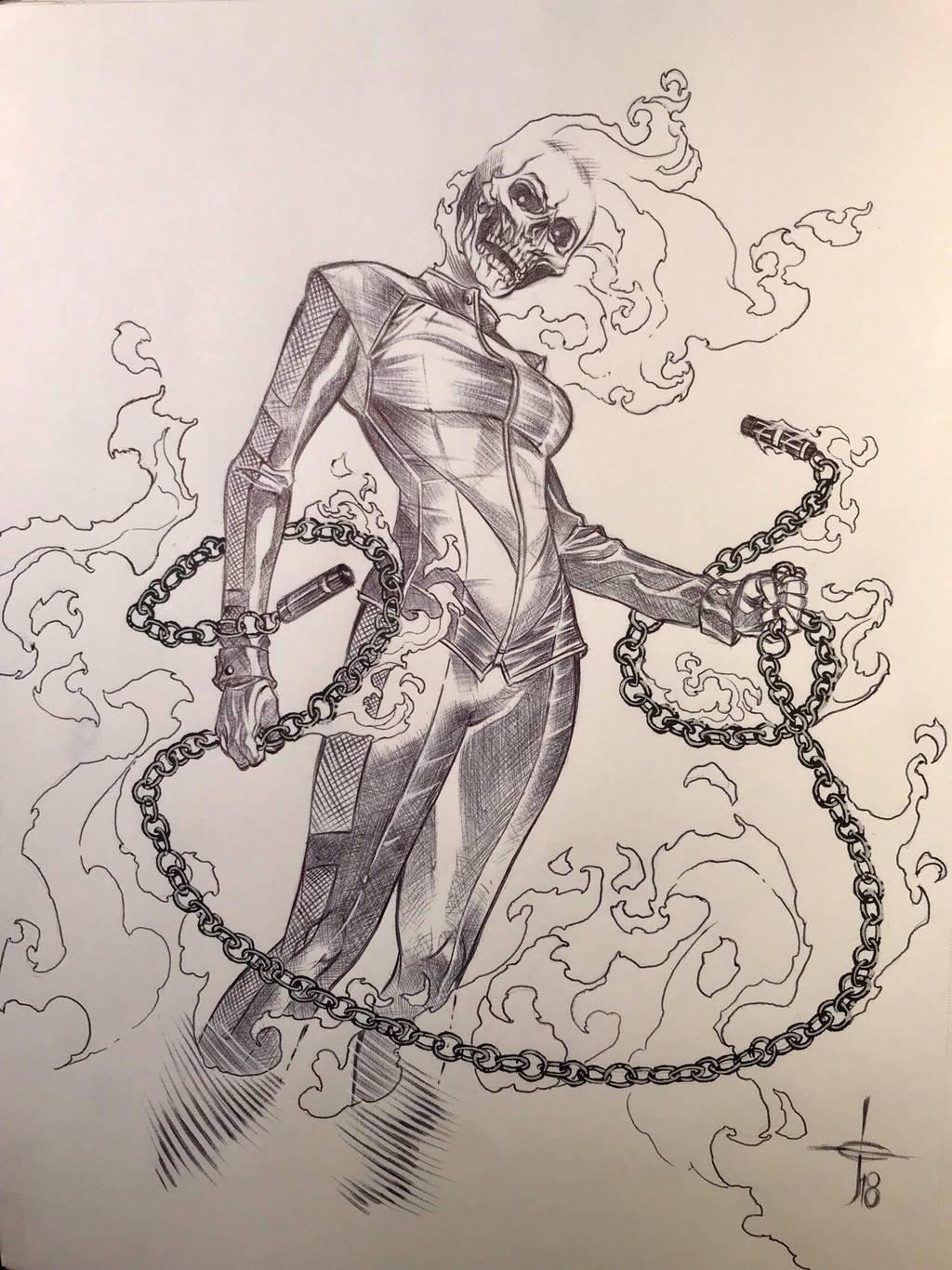 JENNY BLAZE: THE GHOST RIDER by DrewEdwardJohnson
