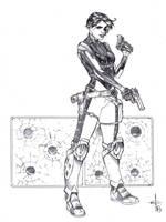 Domino Ballpoint Pen Drawing  by DrewEdwardJohnson