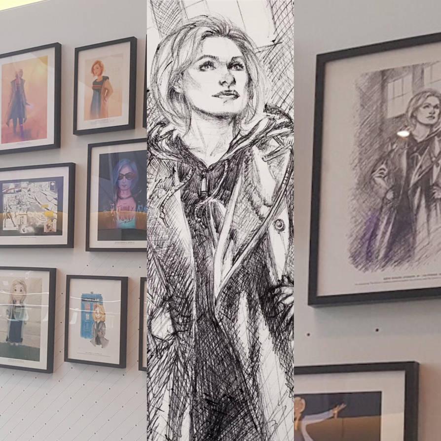 Dr Who Sketch on display at BBC by DrewEdwardJohnson