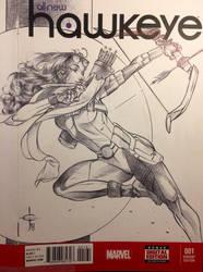 Kate Bishop AKA Hawkeye Sketch Cover by DrewEdwardJohnson