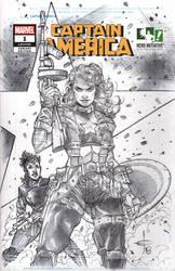 Hero Initiative 100 CAPTAIN AMERICA Sketch Cover by DrewEdwardJohnson