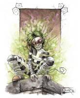 The Mad Maiden Absinthium by graver13