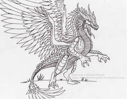 Orkano Ink Sketch by 8TwilightAngel8