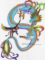 The Sky Dragon and Griffon by 8TwilightAngel8