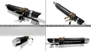 Rahm Kota's Lightsaber 2 by lycanshinobi