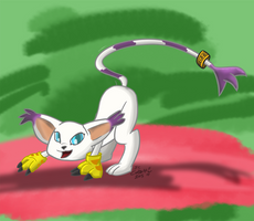 Gatomon - Ready to Pounce by CobaltWinterborn