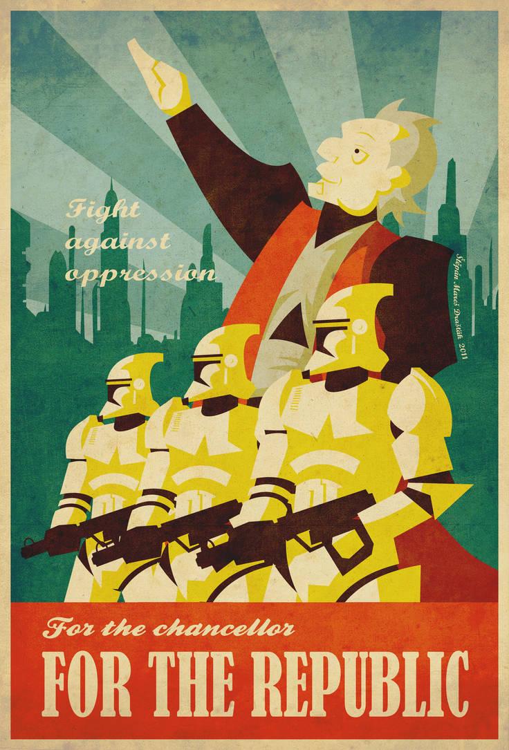 Palpatine's propaganda poster by Feinobi