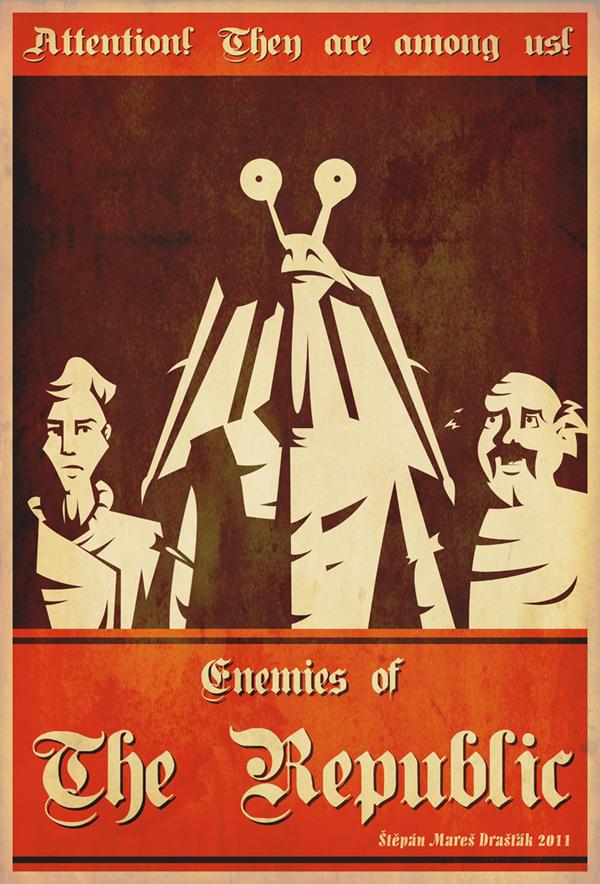 Human propaganda poster by Feinobi