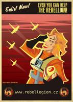 Rebellion's propaganda poster by Feinobi