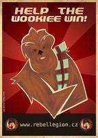 Wookiee propaganda poster by Feinobi