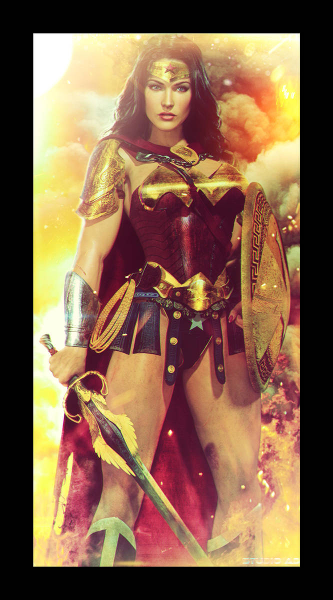 wonderwoman amazon battle armor by artdude41