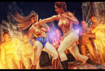 wonderwoman amazon fight by artdude41