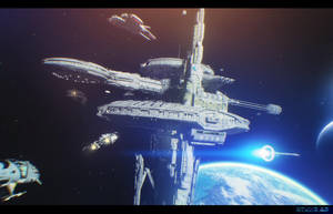 NuEARTH space dock by artdude41