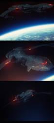 Klingon bird of prey concept by artdude41