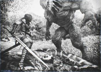 zahara monster hunter by artdude41