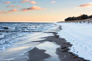 Winter Beach Stroll by Dave-Derbis