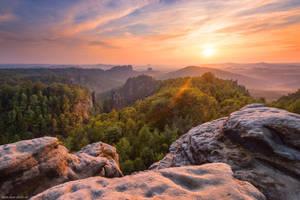 Carolafelsen Sunset by Dave-Derbis