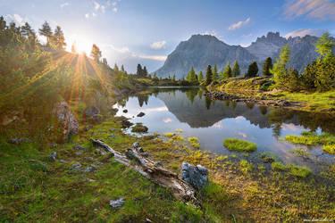 Lago di Limides Sun by Dave-Derbis