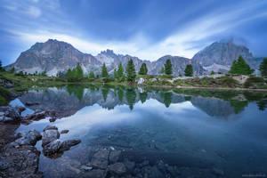 Lago di Limides Blue Hour by Dave-Derbis