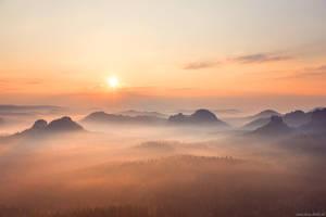 Saxon Switzerland Sunrise by Dave-Derbis