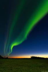 Northern Lights Sunset by Dave-Derbis