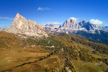 Passo Giau Aerial by Dave-Derbis