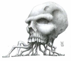 Walking skull by Morbidmic