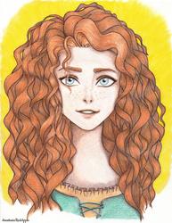I'll be Brave (Merida) by AnastasiaRedApple