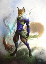Forest Warrior by AlectorFencer